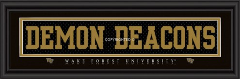 """Wake Forest """"Demon Deacons"""" Stitched Jersey Framed Print"""