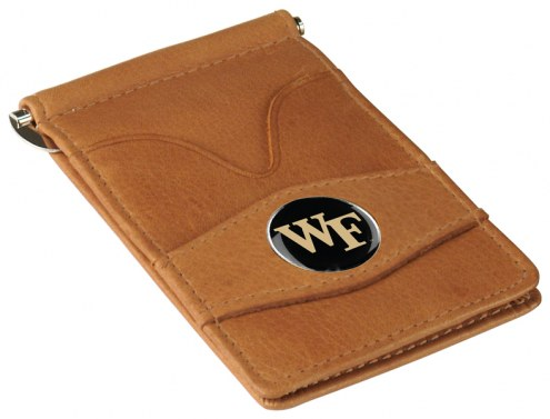 Wake Forest Demon Deacons Tan Player's Wallet