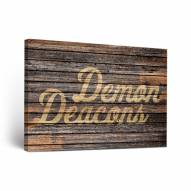 Wake Forest Demon Deacons Weathered Canvas Wall Art