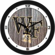 Wake Forest Demon Deacons Weathered Wood Wall Clock