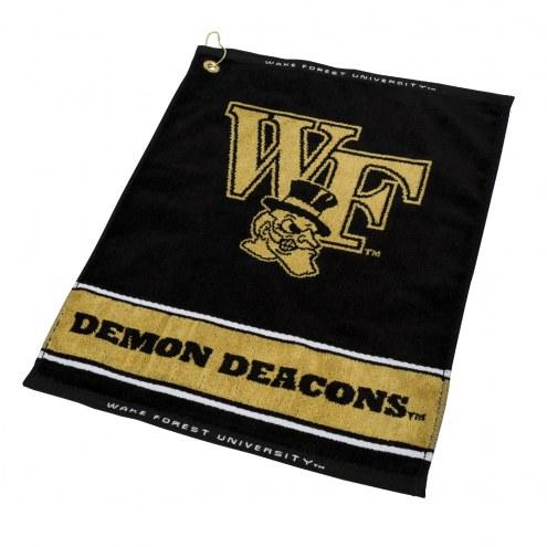 Wake Forest Demon Deacons Woven Golf Towel