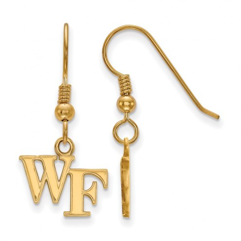 Wake Forest Demon Deacons NCAA Sterling Silver Gold Plated Extra Small Dangle Earrings