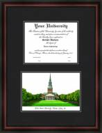 Wake Forest University Diplomate Framed Lithograph with Diploma Opening