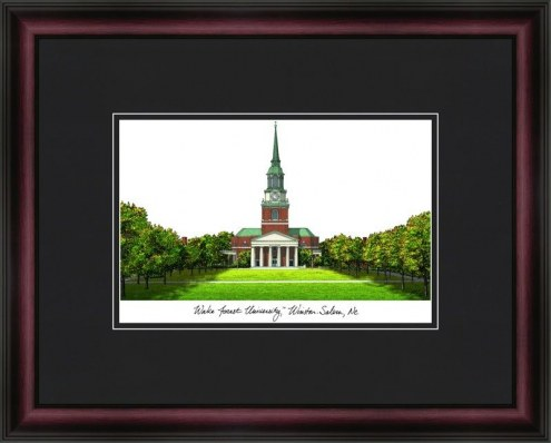 Wake Forest University Academic Framed Lithograph