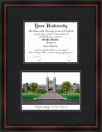 Washington University St. Louis Diplomate Framed Lithograph with Diploma Opening