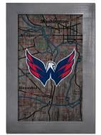 "Washington Capitals 11"" x 19"" City Map Framed Sign"