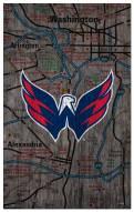 "Washington Capitals 11"" x 19"" City Map Sign"