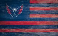 "Washington Capitals 11"" x 19"" Distressed Flag Sign"