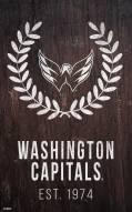 "Washington Capitals 11"" x 19"" Laurel Wreath Sign"