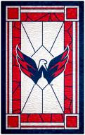 """Washington Capitals 11"""" x 19"""" Stained Glass Sign"""
