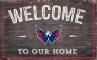 "Washington Capitals 11"" x 19"" Welcome to Our Home Sign"