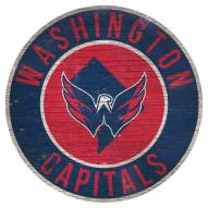 """Washington Capitals 12"""" Circle with State Sign"""