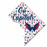 """Washington Capitals 12"""" Floral State Sign"""