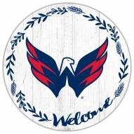 "Washington Capitals 12"" Welcome Circle Sign"