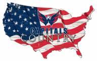 "Washington Capitals 15"" USA Flag Cutout Sign"