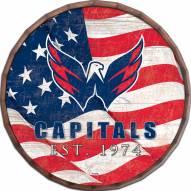 """Washington Capitals 16"""" Flag Barrel Top"""
