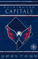 "Washington Capitals 17"" x 26"" Coordinates Sign"