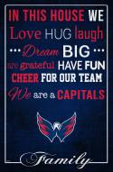 """Washington Capitals 17"""" x 26"""" In This House Sign"""