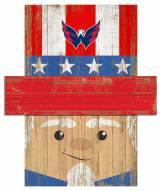 "Washington Capitals 19"" x 16"" Patriotic Head"