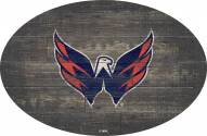 "Washington Capitals 46"" Distressed Wood Oval Sign"