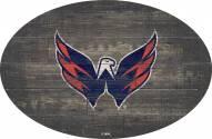 "Washington Capitals 46"" Distressed Wood Oval Sign"