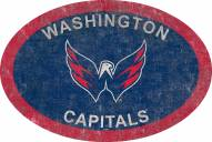 "Washington Capitals 46"" Team Color Oval Sign"