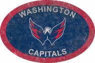 "Washington Capitals 46"" Team Color Oval Sign"