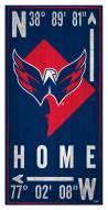"Washington Capitals 6"" x 12"" Coordinates Sign"