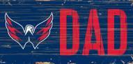"""Washington Capitals 6"""" x 12"""" Dad Sign"""