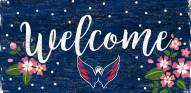 """Washington Capitals 6"""" x 12"""" Floral Welcome Sign"""