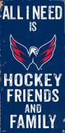 "Washington Capitals 6"" x 12"" Friends & Family Sign"