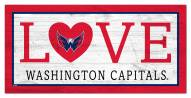 "Washington Capitals 6"" x 12"" Love Sign"