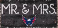 "Washington Capitals 6"" x 12"" Mr. & Mrs. Sign"