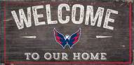 "Washington Capitals 6"" x 12"" Welcome Sign"