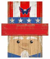 "Washington Capitals 6"" x 5"" Patriotic Head"