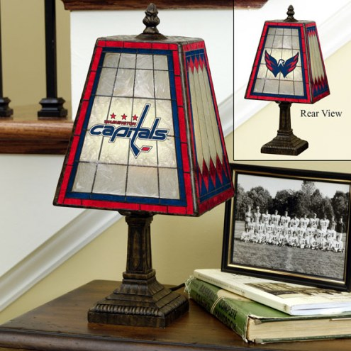 Washington Capitals Art Glass Table Lamp
