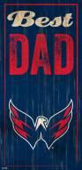 Washington Capitals Best Dad Sign