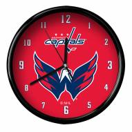 Washington Capitals Black Rim Clock