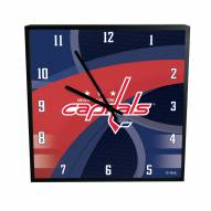 Washington Capitals Carbon Fiber Square Clock