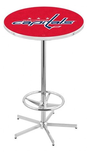 Washington Capitals Chrome Bar Table with Foot Ring