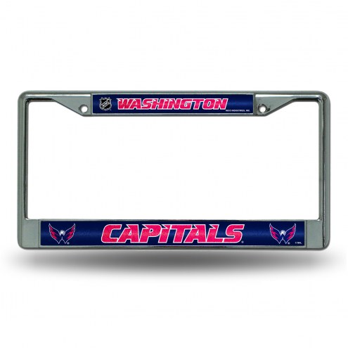 Washington Capitals Chrome Glitter License Plate Frame