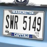 Washington Capitals Chrome Metal License Plate Frame