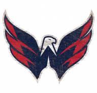 Washington Capitals Distressed Logo Cutout Sign