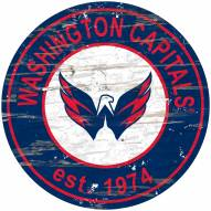 Washington Capitals Distressed Round Sign