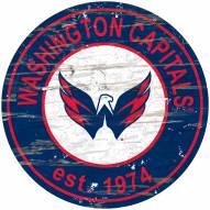 Washington Capitals Distressed Round Sign