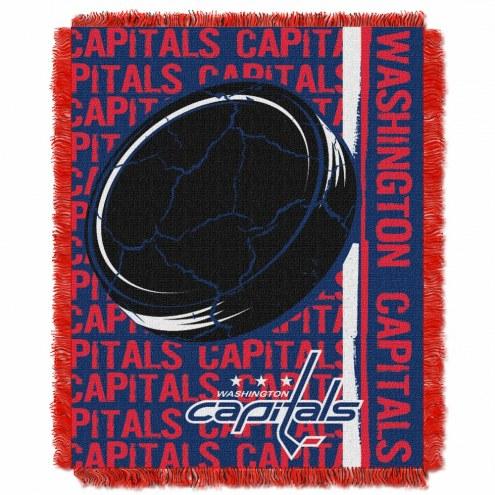 Washington Capitals Double Play Woven Throw Blanket