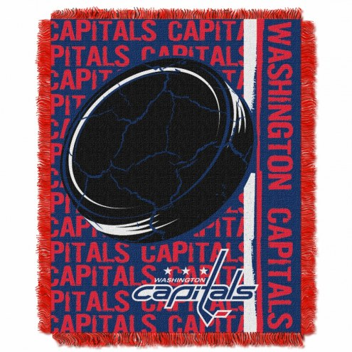 Washington Capitals Double Play Woven Throw Blanket