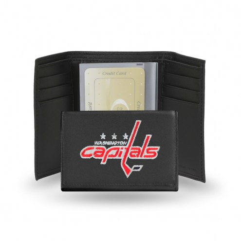 Washington Capitals Embroidered Leather Tri-Fold Wallet
