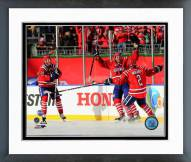 Washington Capitals Eric Fehr Goal Celebration Winter Classic Framed Photo