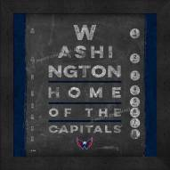 Washington Capitals Eye Chart